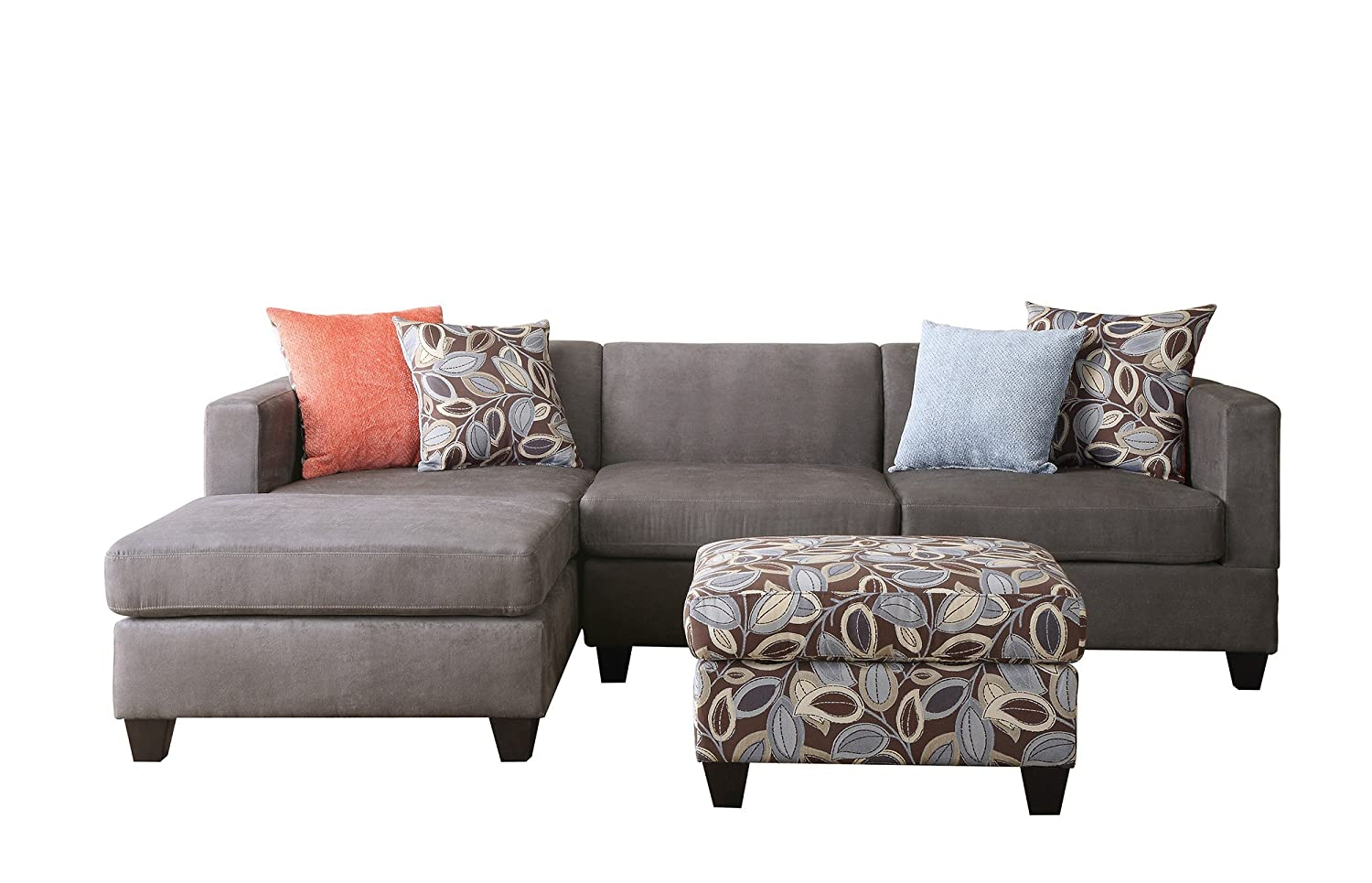 Bobkona Poundex Simplistic Couch Chaise