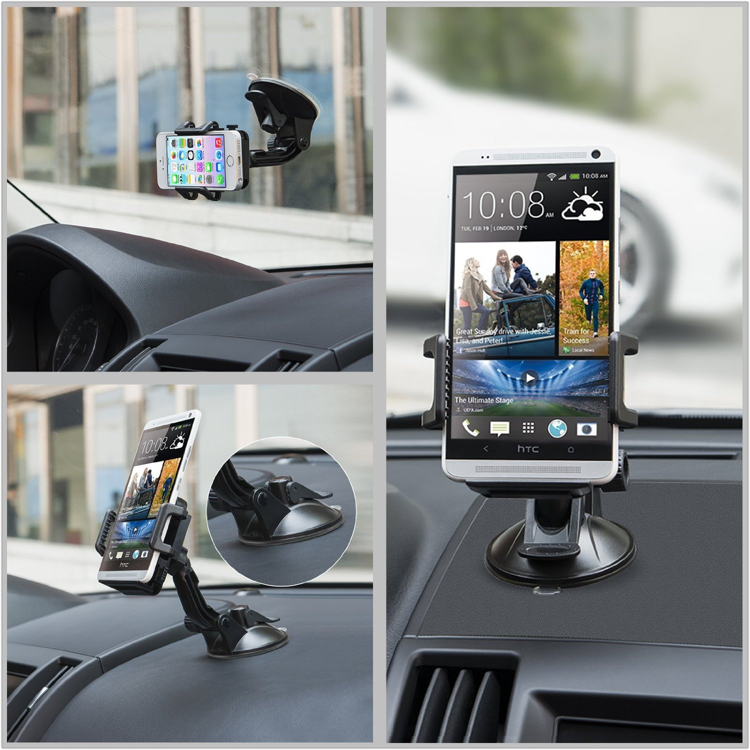 smartphone holder for car vent