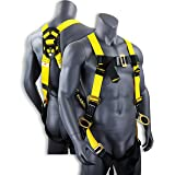KwikSafety (Charlotte, NC) THUNDER Safety Harness | ANSI OSHA Full Body Personal Fall Protection 1 Dorsal Ring 2 Side D-Rings & Pass Through Buckle Straps Construction Industrial Tower Roofing Tool (Color: Harness, Tamaño: 1 Pack)
