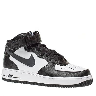 Nike Homme AIR FORCE 1 07 Cuir Noir Blanc 4139975