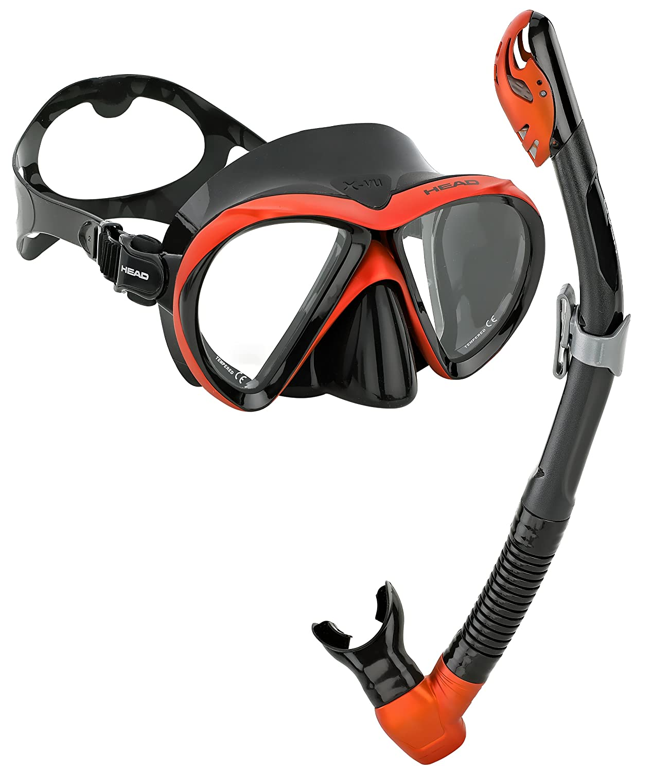 Head by Mares Scuba Snorkeling LiquidSkin Dive Mask Dry Snorkel Set Combo Kit