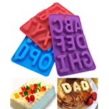 3Pcs/Set Of 26 Capital Letters DIY Mold Silicone Handmade Cake Decoration Chocolate Ice Jelly Mould Tray (Color: Colorful)
