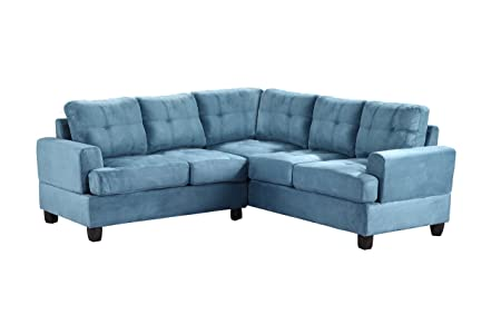 Glory Furniture G518B-SC Sectional Sofa, Aqua, 2 boxes