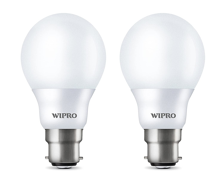 Wipro Garnet B22 7-Watt LED Bulb (Pack of 2, Cool Day Light) @Rs.369 {Mrp-950} at Amazon