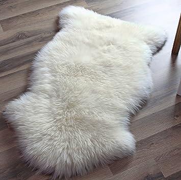 Amazon.com - Genuine Australian Sheepskin Rug One Pelt Ivory Natural Fur, Single, Approx. 2ft. x 3ft. -