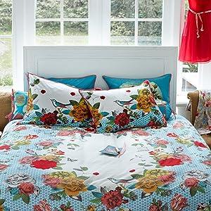 PiP Studio PiP Perkal Bettwäsche Flower Bouquet blue 135x200 cm + 80x80 cm    Kundenberichte und weitere Informationen