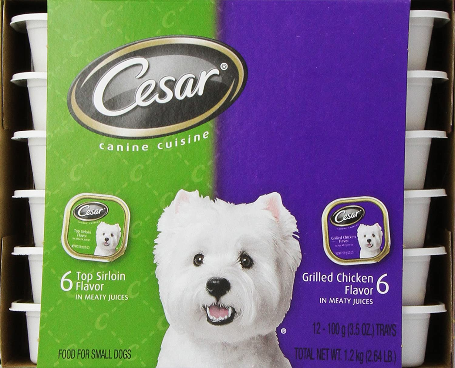 Cesar canine cuisine variety pack top sirloin grilled chicken for small dogs ebay - Cuisine cesar ...