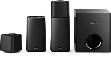 Philips F5 Système Home Cinéma 4.1 Bluetooth/NFC avec enceinte arrière/Caisson de basse sans fil Noir