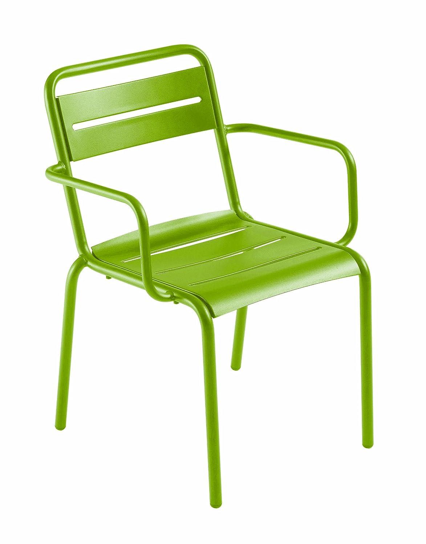 Emu 301626000 Star Stapelstuhl mit Armlehne 162, pulverbeschichteter Stahl, grün, 4-er Set jetzt kaufen