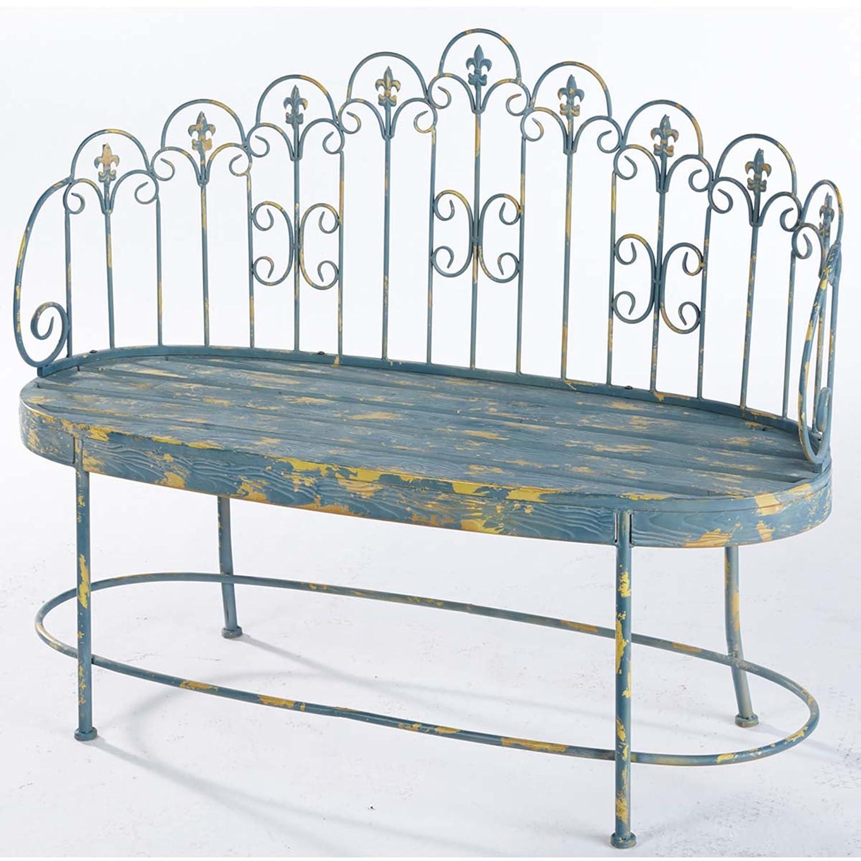 Gartenbank im Used-Look, aus Metall, 2-Sitzer bestellen
