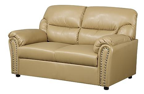 Glory Furniture G261-L Living Room Love Seat, Tan