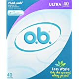 o.b. Applicator Free Digital Tampons, Ultra  - 40 Count