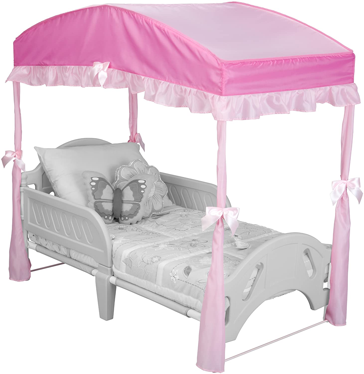 Girls Toddler Bed Canopy Pink Bedroom Princess Furniture