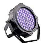DragonX UV Light LED Halloween Black light Decor - LED 54x3W Par Can Wash Light - Spooky UV Halloween Lights, Dimmable Strobe Ultraviolet Blacklight, Party Light Uplighting, DJ Stage Lights, DMX 512 (Color: UV)