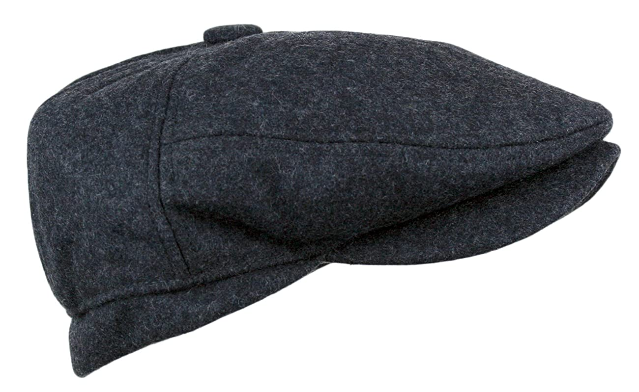 Men's 5 Panel Vintage Style Wool Blend Gatsby Ivy Newsboy Hat 3