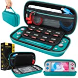 Case for Nintendo Switch Lite - Portable Travel Carry Case with storage for Switch Lite Games & Accessories [Turquoise Blue Edition] (Color: Blue)