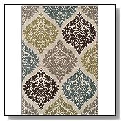 Soft Damask Carpet Transitional Area Rug