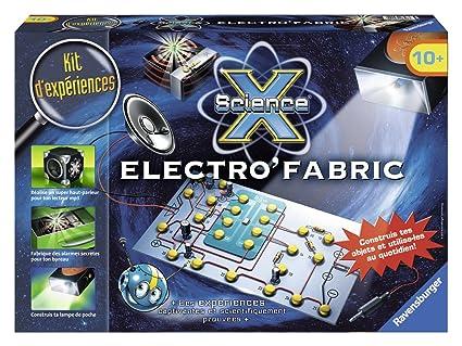 Ravensburger - 18898 - Jeu Éducatif et Scientifique - Maxi Science X - Electro'Fabric