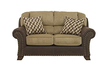 Vandive Brown Cottage Fabric Loveseat