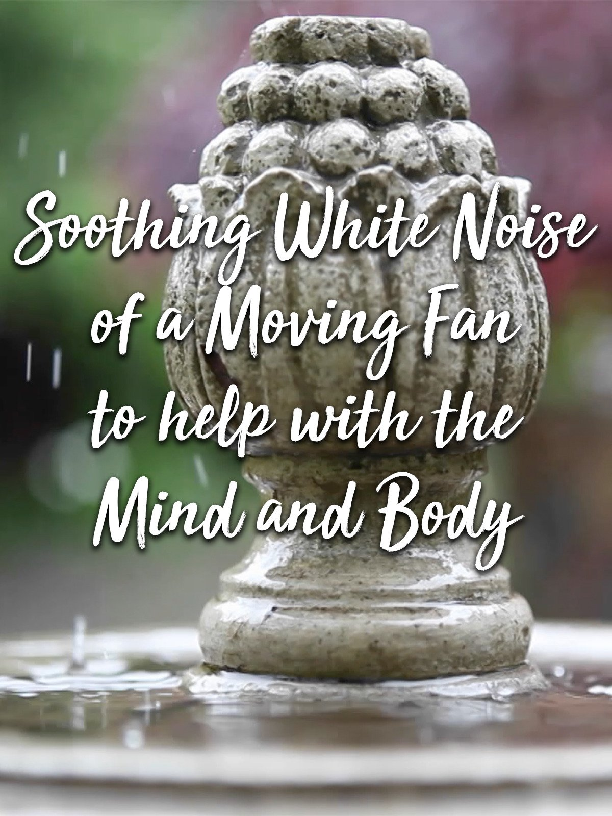 Soothing White Noise of a Moving Fan to help with the Mind and Body