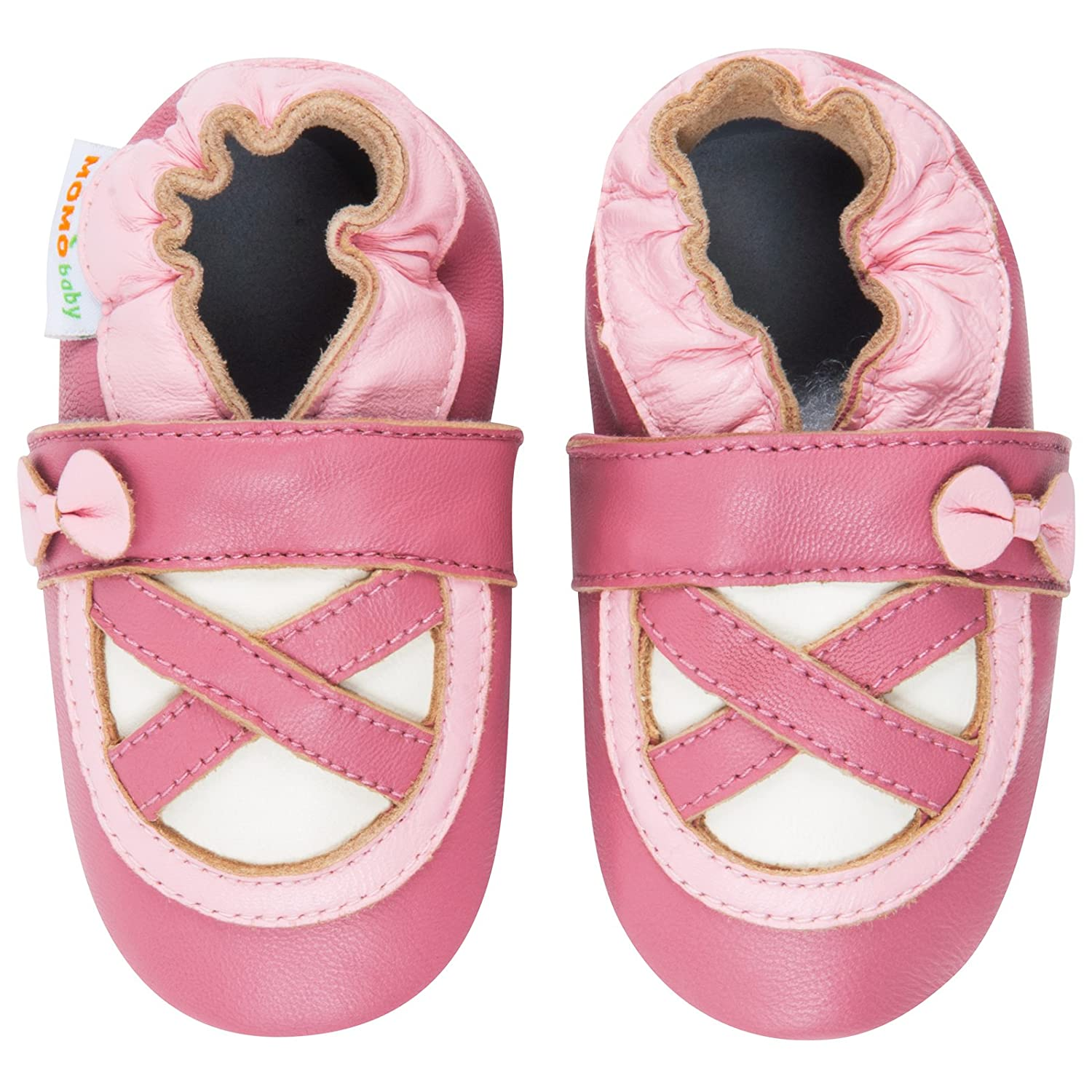 Momo Baby Infant Toddler Ballerina Pink Rose Soft Sole