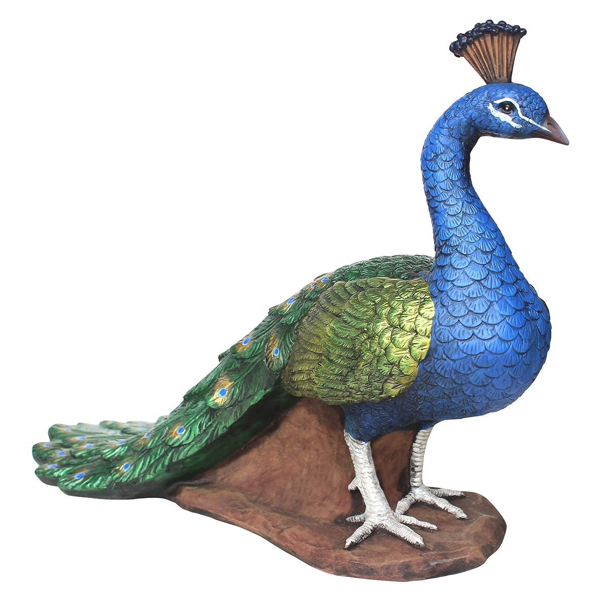 Design Toscano The Regal Peacock Garden Statue, Medium