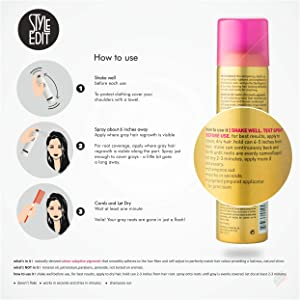 Style Edit DARK BLONDE Root Concealer Touch Up Spray | Instantly Covers Grey Roots | Professional Salon Quality Cover Up Hair Products for Women |4 Ounce (Pack of 2) (Color: Dark Blonde, Tamaño: Pack of 2)