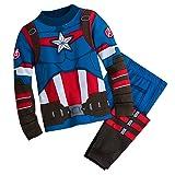 Marvel Captain America Costume PJ PALS for Boys Size 7 Multi (Color: Multicolor, Tamaño: 7)