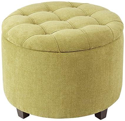 Sasha Green Storage Ottoman