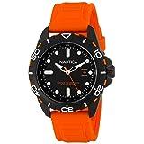 Reloj  para hombre Nautica N11619G Pantalla  Analógica,  cuarzo  color anaranjado