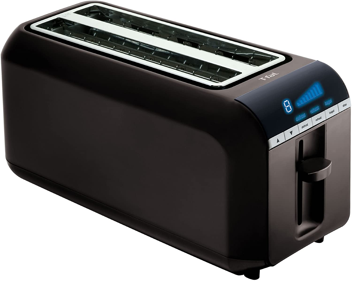 NEW 4 Slice 2 Long Slot Wide Digital Toaster Black Kitchen Appliances ...