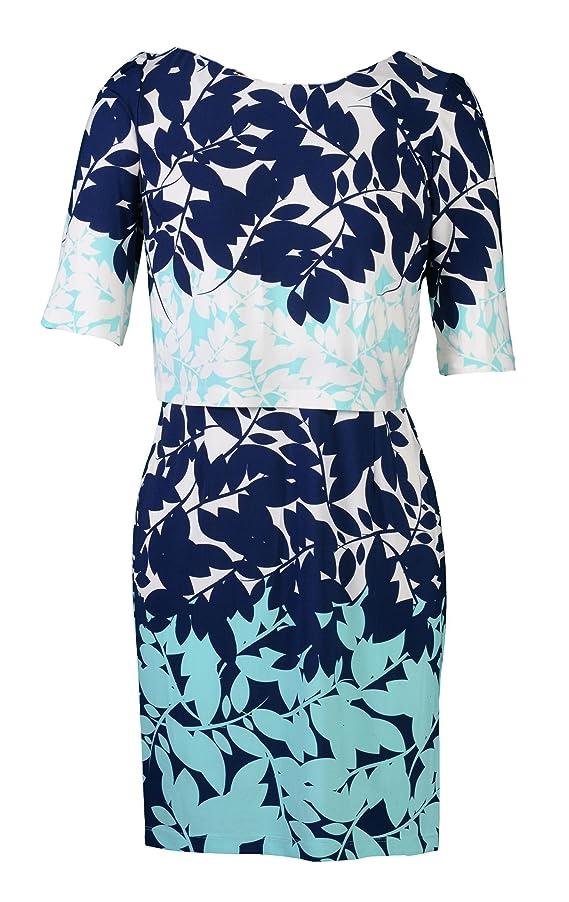 Sandra Darren 3 4 Sleeve Popover Floral Dress