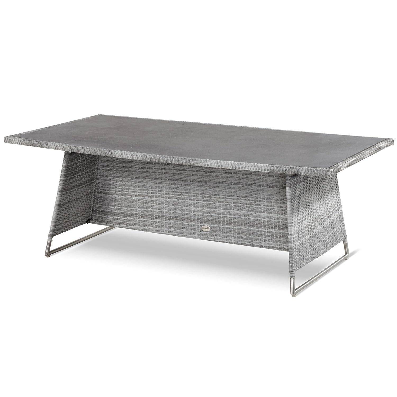 Hartman Montego Tisch 160 x 90 cm Polyrattan royal grey flat 22612099 günstig online kaufen