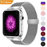 YOUKEX Milanese Loop Replacement Band Compatible Apple Watch 38mm 42mm 40mm 44mm,Stainless Steel Mesh Band Magnetic Closure iWatch Series 4/3/2/1-42mm/44mm Silver (Color: Silver, Tamaño: 42mm/44mm)