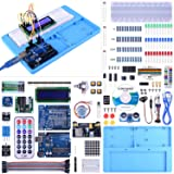 UNO Starter Kit for Arduino, UNIROI Complete Arduino Kit for Beginner with Detailed Tutorials, RAB Holder, Breadboard for Arduino UNO R3 Arduino Mega 2560 Arduino Nano Robot (52 Items) UA005 (Color: Arduino UNO Starter Kit)