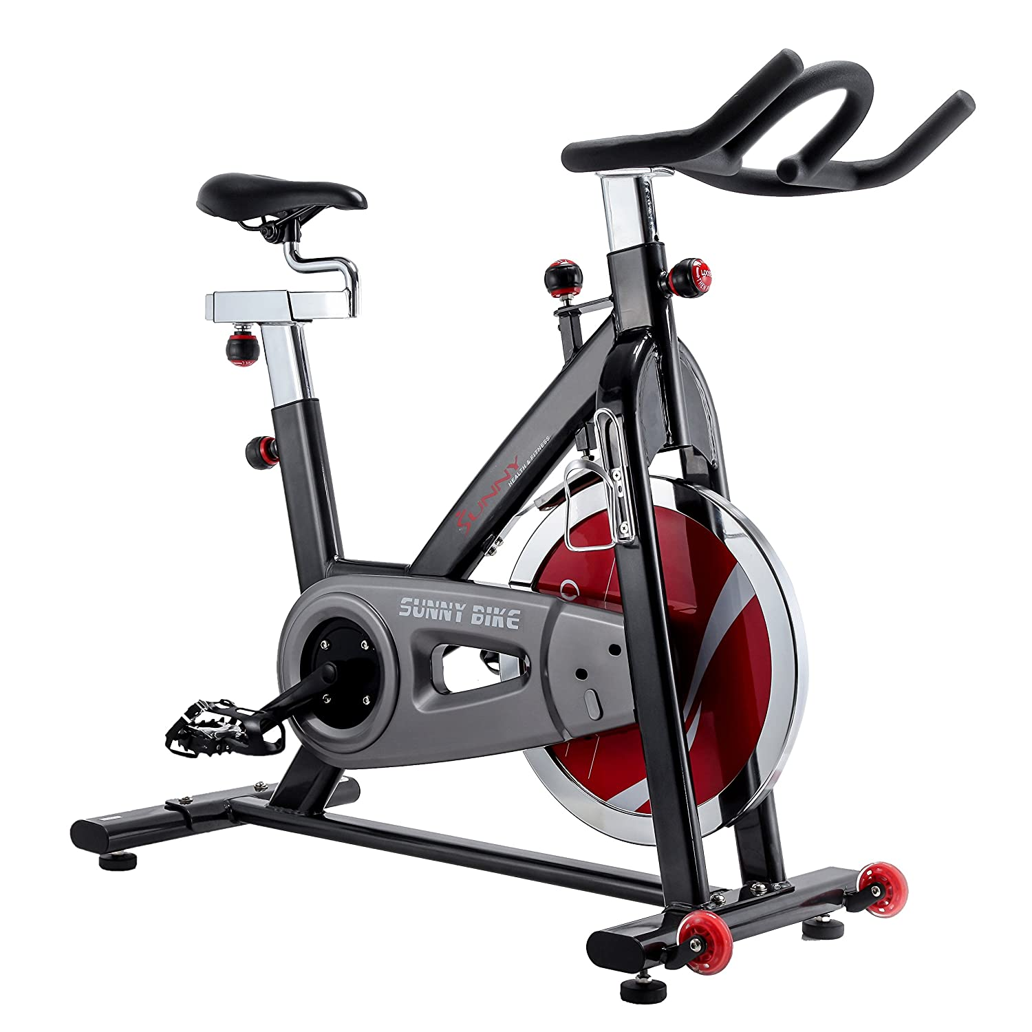 Sunny Health & Fitness Indoor Cycle Trainer - 49 lb. Flywheel