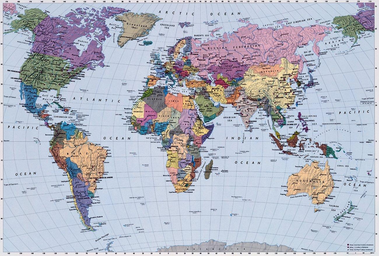 weltkarte poster online world map. Black Bedroom Furniture Sets. Home Design Ideas