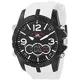 U.S. Polo Assn. Men's US9250 White Analog Digital Strap Watch