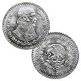 Mo - Mexico City 10% Mexico's Last Silver Coin Un Peso BU 1957-1967 1 Peso Brilliant Uncirculated