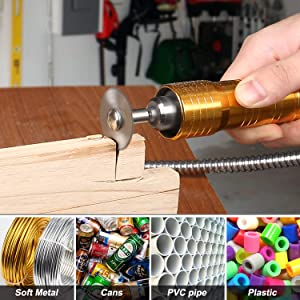 43pcs Wood Carving Kit for Rotary Tool - GOXAWEE Power Tool Accessory Combo Set Universal Fitment for Wood and Plastic, Versatile Drill Bit Cutting Disc Buffering Wheel for Engraving, Sanding (Color: White, Brown, Silver, Metal Grey, Tamaño: Pocket Size)