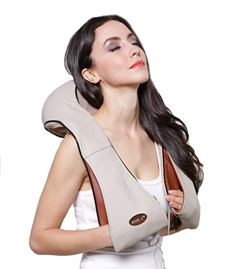 Five Star FS8801 Shiatsu Kneading Neck Shoulder Body Massager with Heat for Home Office Car