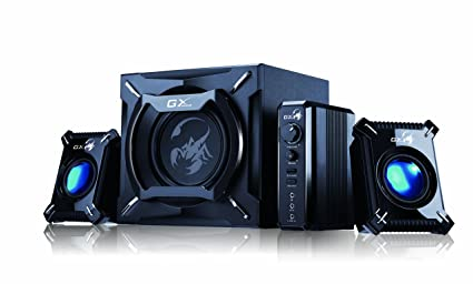 Genius SW-G2.1 2000 - 45 Watts RMS - 2.1.True Beast Power Gaming Speaker System with Earth Pounding Subwoofer Bass and Hyper Treble Satellite Audio for Multi-Media / Console / TV / Computer / MP3 / Tablet / Smartphone