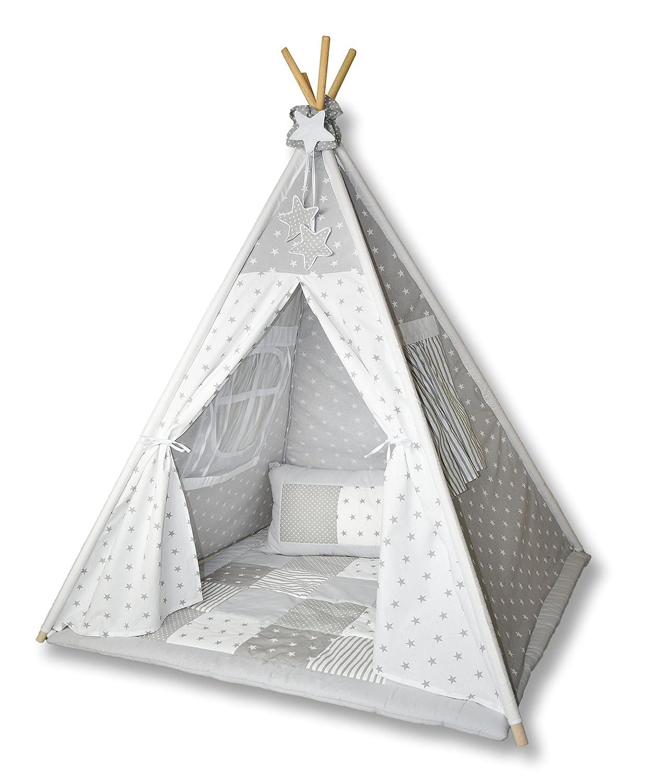 Tipi Spielzelt Zelt für Kinder T01 (Spielzelt mit der Tipidecke und Kissen) online kaufen