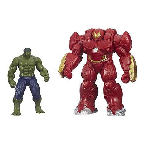 Avengers : Age of Ultron – Hulk & Armure Hulk Buster – 2 Figurines 6 cm