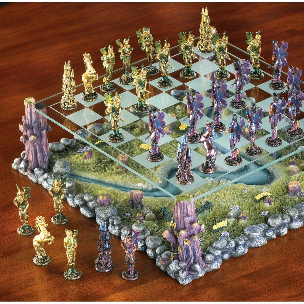New Chess Set Legendary World Of Faerie Lifelike Sculpted
