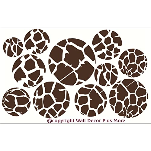 Wall Decor Plus More Giraffe Print Dots Wall Vinyl Sticker Decal 11 Piece 3 - 7.5 - Chocolate Brown Chocolate Brown