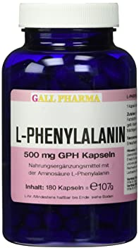 Gall Pharma L-Phenylalanin 500 mg GPH Kapseln 180 Stuck