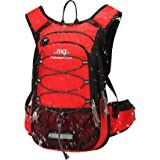 Mubasel Gear Insulated Hydration Backpack 2L BPA Free Bladder - Keeps Liquid Cool up to 5 Hours – Waterproof Pack Running, Hiking, Cycling, Camping (Red)