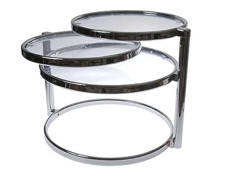 Leitmotiv Swivel - Mesa doble de acero cromado