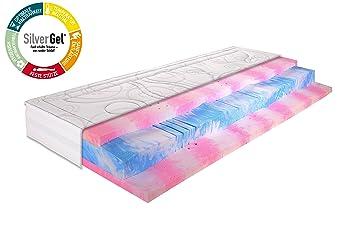 Gelmatratze 7 Zonen Kaltschaummatratze SilverGel® 5000 / 90x200cm / Härtegrad 2